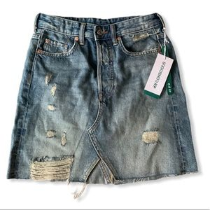 H&M DENIM MINI SKIRT